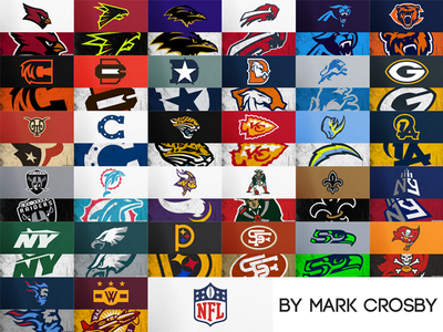 All NFL Logos Redesigned