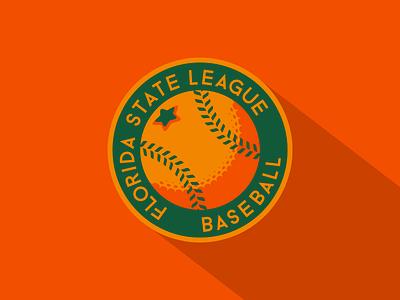 Florida State League Baseball milb concept logo sports mlb minor league