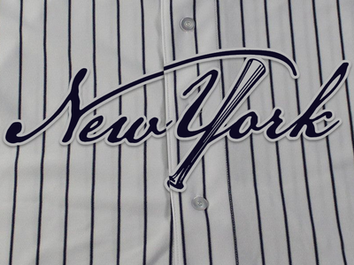 New York Yankees Script bombers bronx baseball mlb