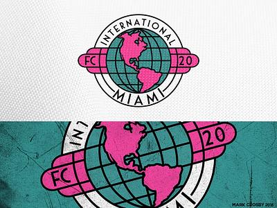 Inter Miami logo football soccer art deco internacional mls