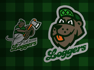 La Crosse Loggers branding logo sports concept northwoods league northwoods baseball collegiate