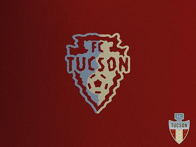 FC Tucson concept crest football logo sports arrowhead arizona league one usl soccer