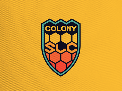 Colony Salt Lake branding crest concept soccer logo sports
