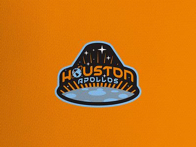 Houston Apollos crest concept soccer football logo sports design mls dynamo