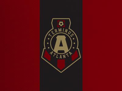 Terminus Atlanta united logos crest concept football logo sports soccer mls