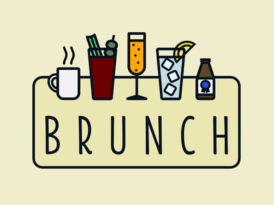 Brunch brunch beer shorty mimosa bloody mary coffee