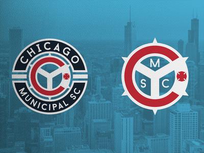 Chicago Municipal SC sports logo sports logo crest football chicago chicago fire major league soccer mls soccer