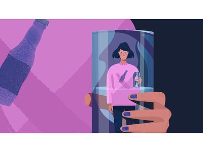 Water. millennials millennial sweatshirt metaphor conceptual concept relationship pink editorial illustartion editorial glass water girl adobe photoshop adobe illustrator texture illustrator illustration