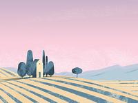Landscape. Illustration.