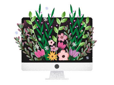 Blooming adobe photoshop adobe illustrator graphic design graphic designer texture computer flowers illustrator illustration