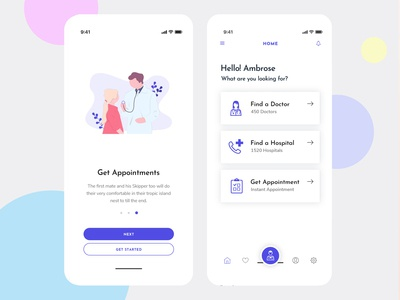Design doctor IOS + Android App UI