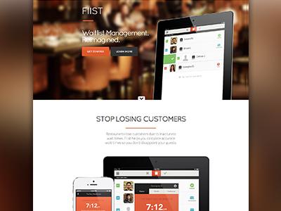 Landing Page - Fiist landing page ui app iphone ipad web clean minimal