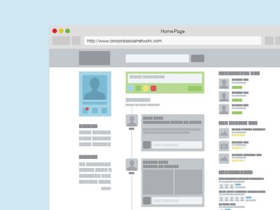Social Media MockUp Wireframe mockup wireframe social media layout ui