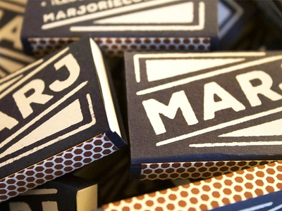 Screenprinted Matchbox Business Cards screenprint marjoriecoendesign marj strikers handmade business cards matchbooks matchboxes