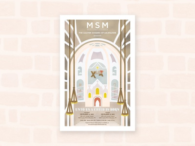 Master Singers of Milwaukee marketing material poster poster design religion religious church choir singers milwaukee 3 wise men camels jesus stained glass convent chapel st joseph saint joseph saint