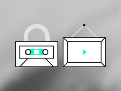 Unlock & Artwork lock cassette artwork frame player