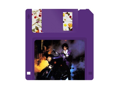 Famous Albums as Floppy Disks