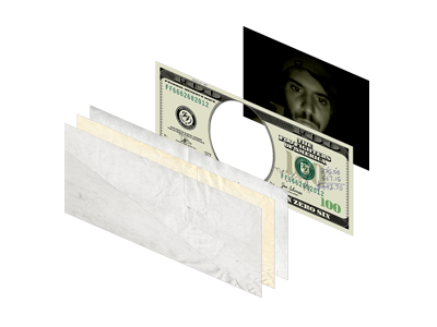 In Rock We Trust mint money stacked 3d layers foo fighters in rock we trust federal reserve