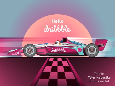 Hello Dribbble Indycar Livery racecar motorsports livery indycar debut