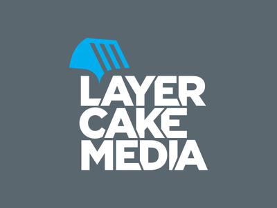 Layer Cake Media logo cake brand identity logo media layer cake