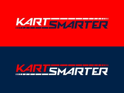 Kart Smarter logo data motorsports racing brand identity logo smarter kart