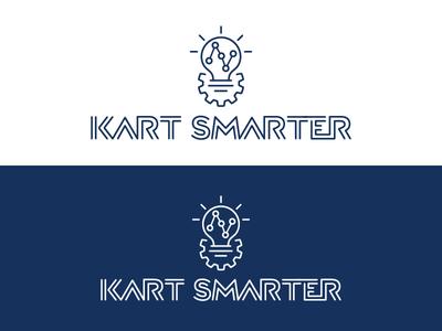 Kart Smarter logo (alternate) data motorsports racing brand identity logo smarter kart