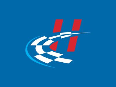 Heinert Motorsports Icon racing checkered flag brand identity logo motorsports