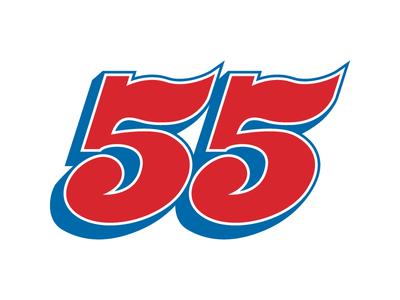 Heinert Motorsports #55 typography number 55 racing motorsports