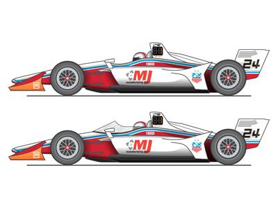 Indycar 2018 Bodywork vs. Aeroscreen comparison racing motorsports racecar aeroscreen indycar