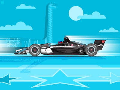 2019 Indycar Classic at Circuit of the Americas Winner cota texas austin colton herta car grand prix illustration indycar motion motorsports race racer racing speed racecar