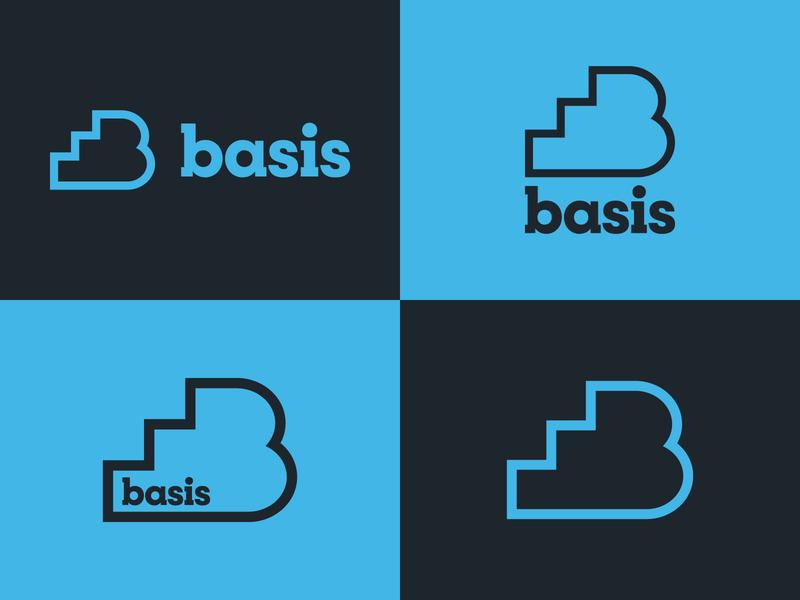 Basis logo cornerstone foundation basis logo icon branding