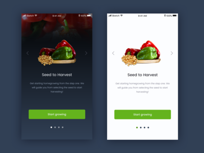On-boarding Screen first dribbble shot ios mobile app initial step on-boarding ui