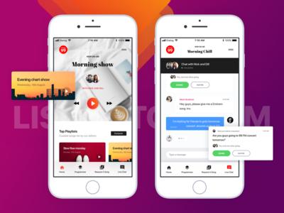Conceptual online radio player mobile app design