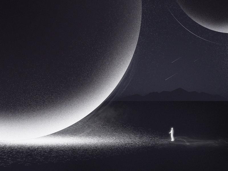 Explore astronaut universe meteor stars star forward explore ui 插画 100days illustration 星球 前进 探索