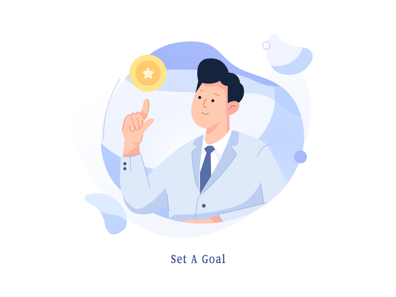 Goal flat flat illustration 人物 金币 coin gold coin aim objective target 目标 goal 插画 design 100days illustration