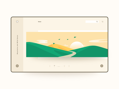 Mountains and wild geese goose web界面 界面 鸿雁 山 web ui interface 插画 design illustration