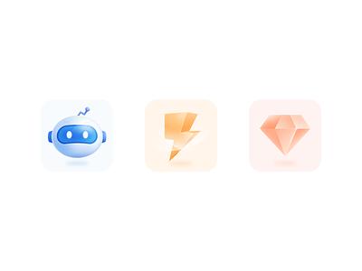 Icon 100days 轻质感 图标 3d logo icon design ui