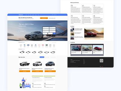 Auto trading platform website uidesign ux design ui