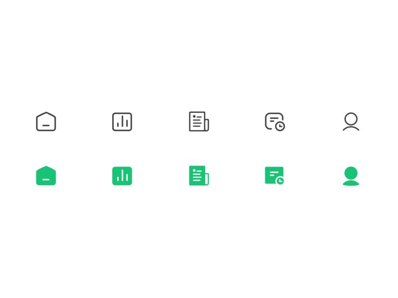 Training App Icon vector type minimal app icon design ux ui