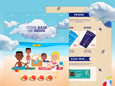 Come Rain or Shine supermarket food and drink competition summer design animation web design