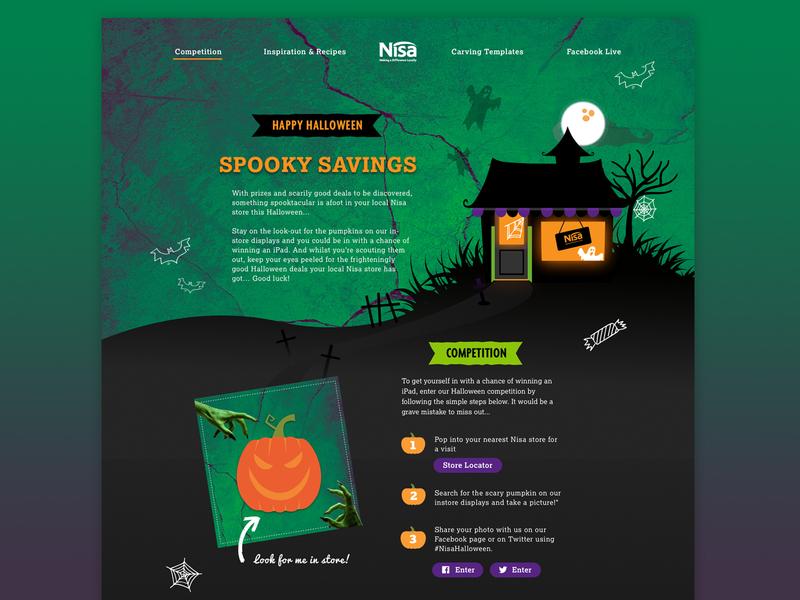 Nisa Halloween ui food  drink halloween design web design