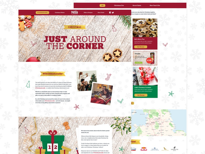 Nisa Christmas Campaign branding vector illustration ui design web design