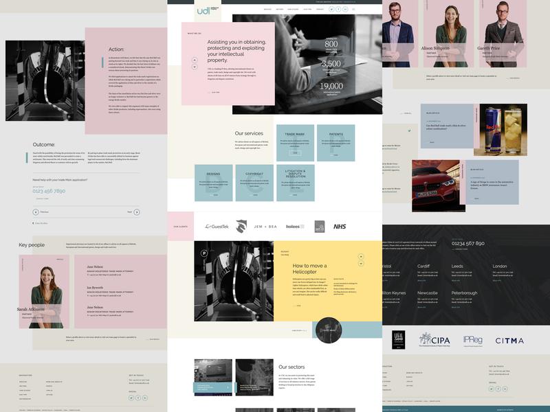 UDL Website branding responsive ui design web design