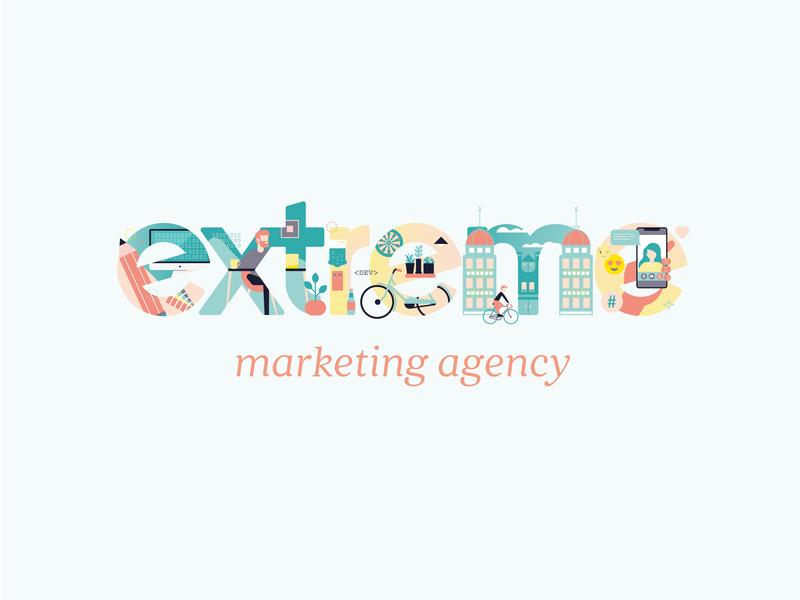 Extreme Studio Artwork print digital designer agency colour adobe interior design studio artwork studio illustration
