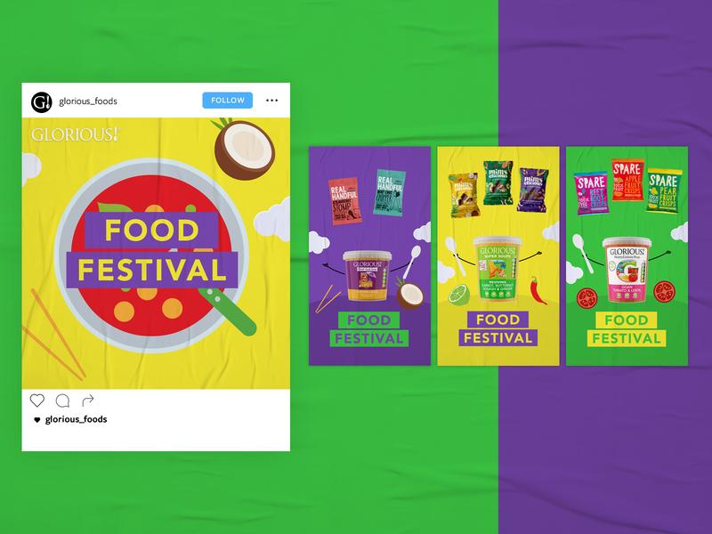 Food Festival social media social post instagram stories design colourful soup social design instagram social