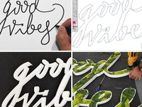 Moss Typography Process