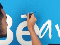 Behance lettering Installation
