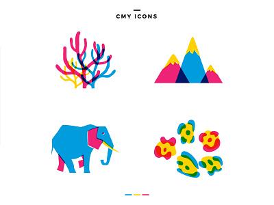 Joybox Icons cmyk icon vector illustration