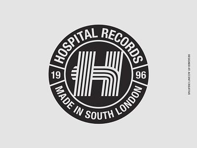 Hospital Records Stripe Logo accent creative junglist jungle hospital records drum n bass