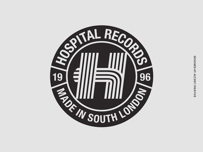 Hospital Records Stripe Logo accent creative junglist jungle hospital records drum n bass